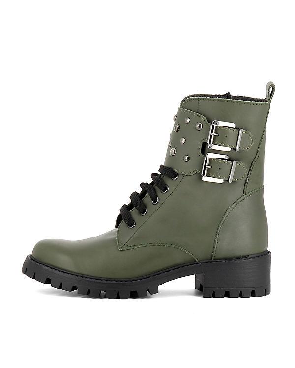 Evita Shoes, Biker Boots VERA, VERA, Boots grün b37e9e
