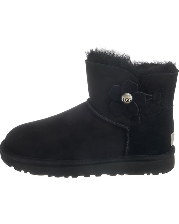 Winterstiefeletten schwarz BUTTON BAILEY W MINI UGG POPPY POAqUp1Wn