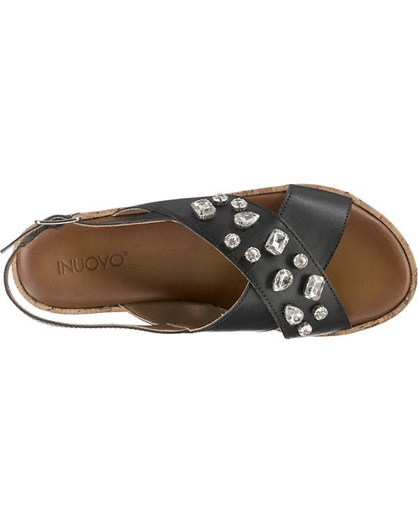 Klassische INUOVO Sandalen schwarz INUOVO Klassische Sandalen qO7004