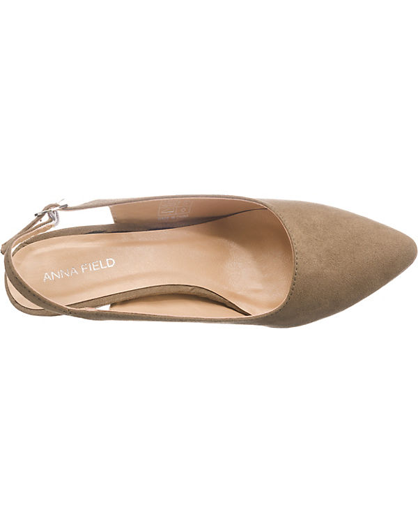 3601 15ZX1 Sling Anna Pumps taupe Field 805q5xwE