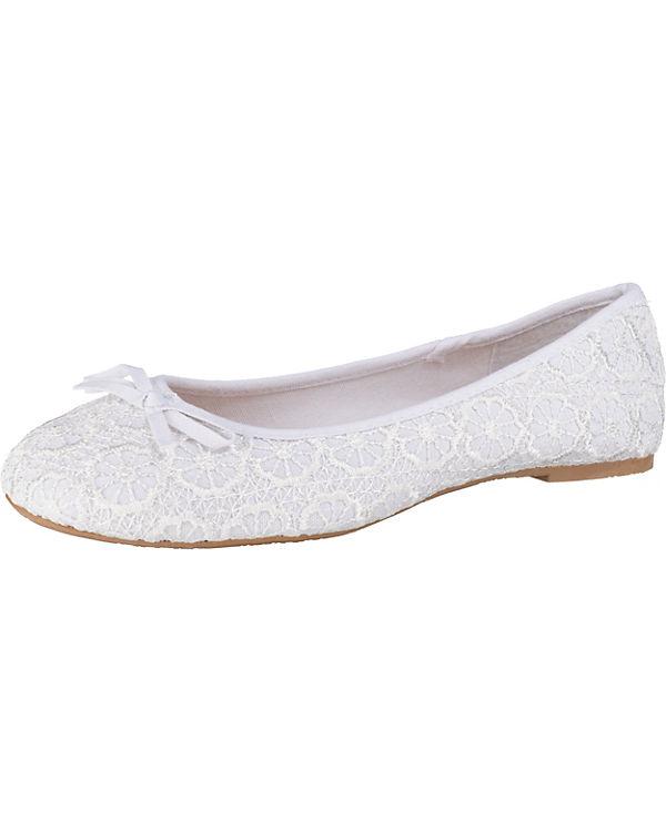 Ballerinas Field 3165 weiß 15UX1 Klassische Anna nI64aqxF6