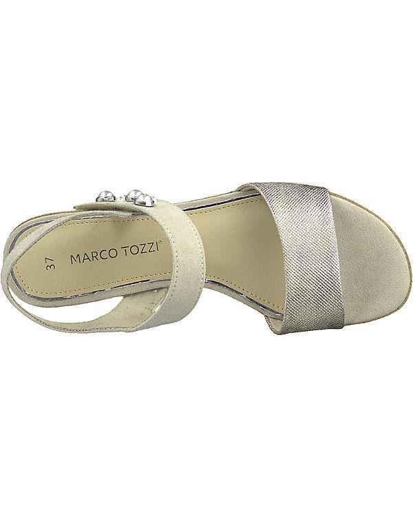 MARCO beige MARCO Klassische TOZZI TOZZI Sandalen 8zwfHB8q4