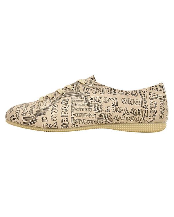 Dogo Shoes Schnürschuhe Oxford world cities mehrfarbig