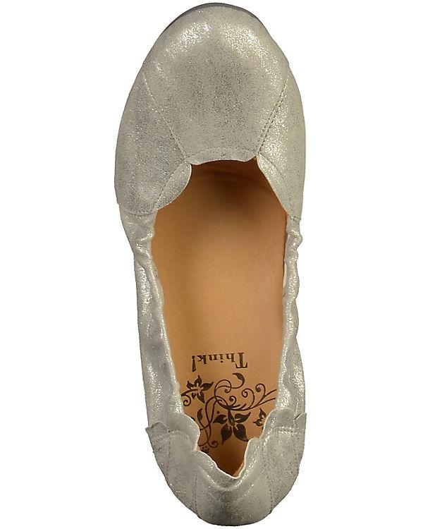 Think! Klassische Ballerinas silber