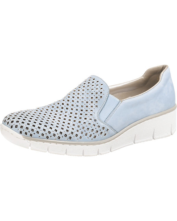 rieker Sneaker Slip Preston blau On rwrfqt