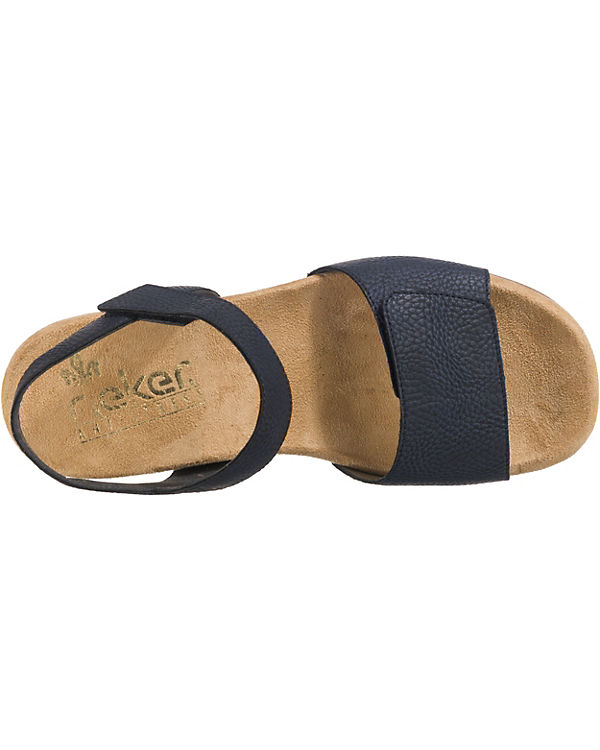 rieker blau Wildebuk rieker Wildebuk Komfort Komfort Sandalen Sandalen 4w8dx7nq