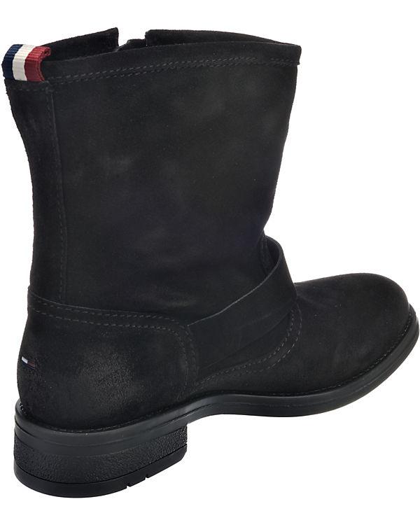 TOMMY HILFIGER, A1385LINE 1B Biker Boots, Boots, Boots, schwarz 05c557