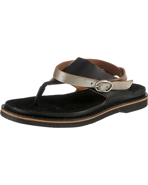 Shabbies Amsterdam, SANDAL NATURAL DYED schwarz LEATHER Klassische Sandalen, schwarz DYED 5f05d4