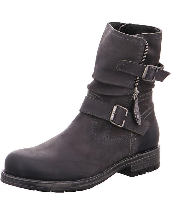 Jana Biker Boots grau