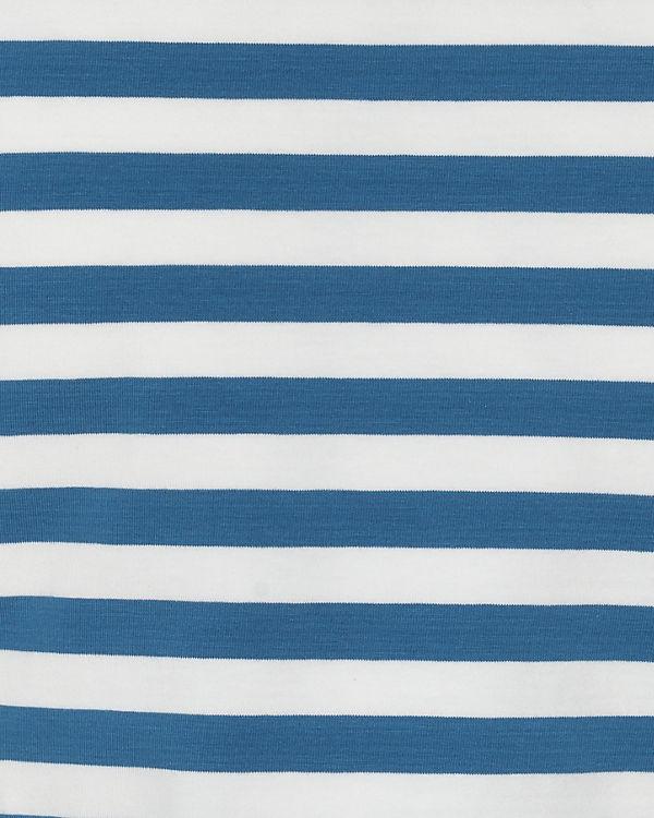 Blutsgeschwister 3/4-Arm-Shirt blau/weiß