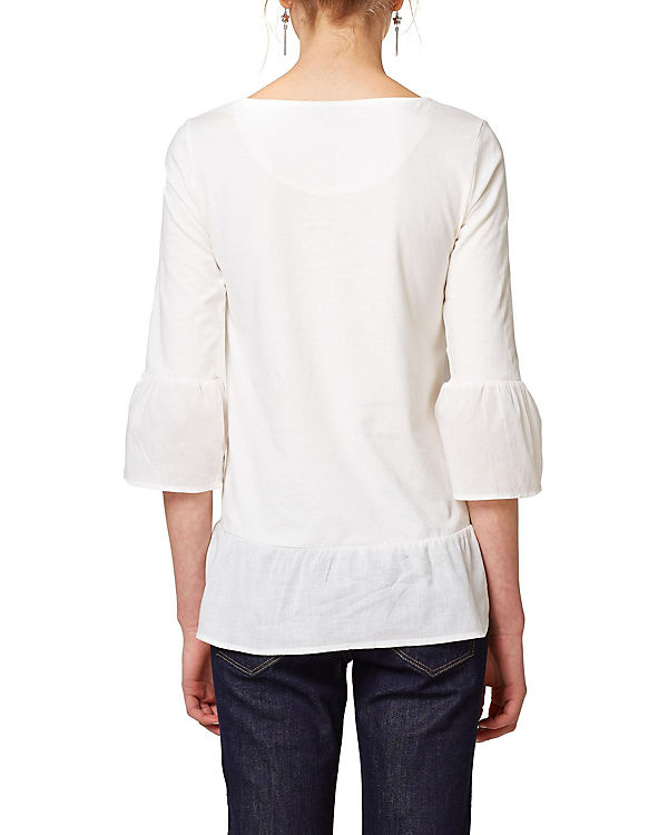 Arm by edc Shirt ESPRIT weiß 3 4 wBCqzC