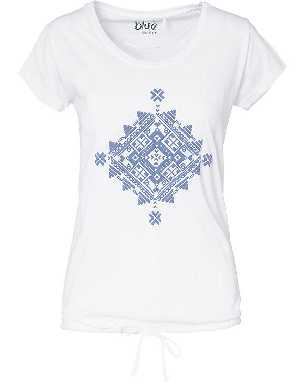 weiß Shirt blue blue T T xtwTwRqI