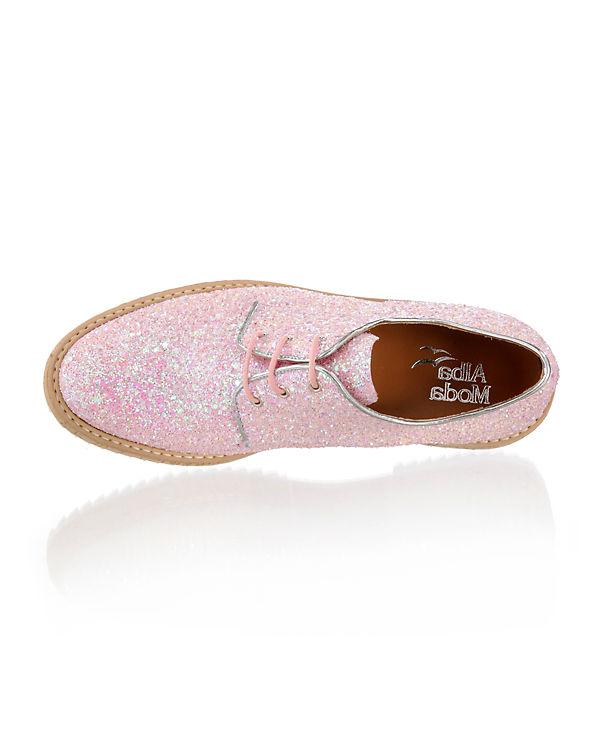 Alba Moda Schnürschuhe rosa