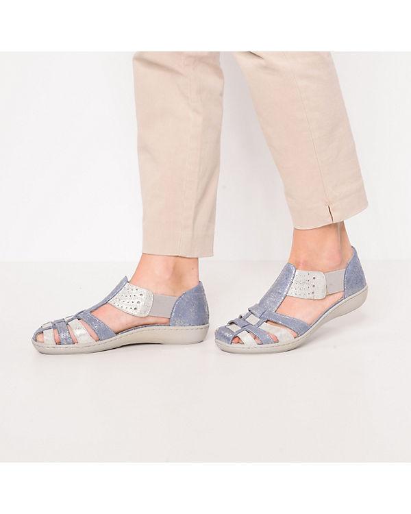 Kiarflex Komfort-Sandalen blau/silber