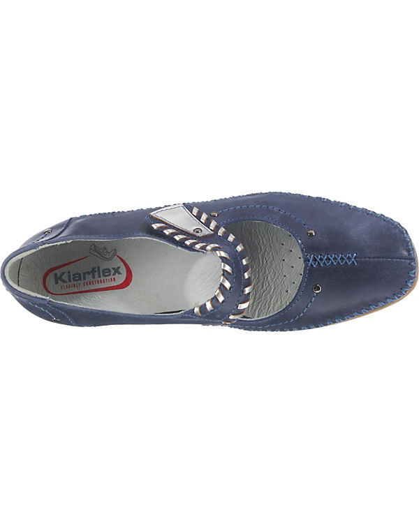Kiarflex Spangenpumps blue denim