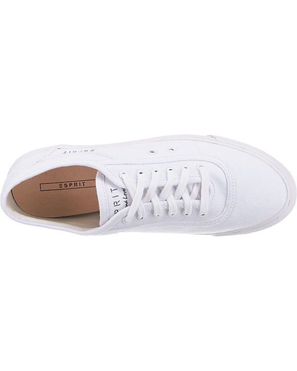 Low weiß Sneakers up Miami Lace ESPRIT YC1FqF