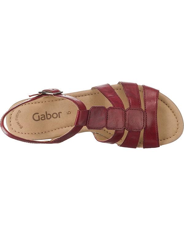 rot Gabor Gabor Klassische Sandaletten Klassische wUqgIBxFU
