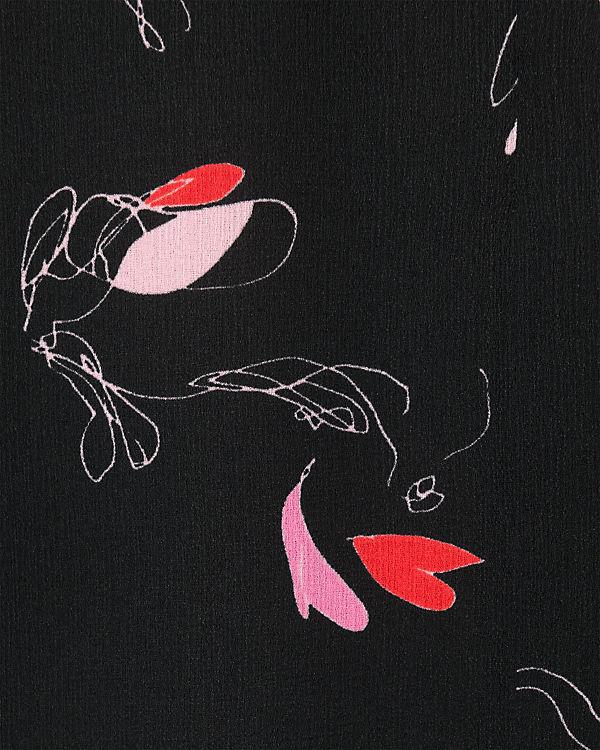 pieces Kleider* schwarz/pink