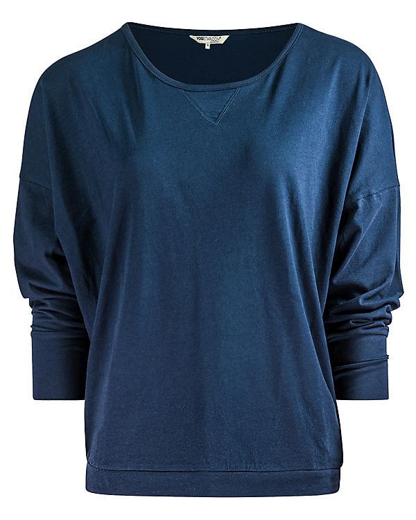 Yogistar Yoga Langarmshirts Batwing blau