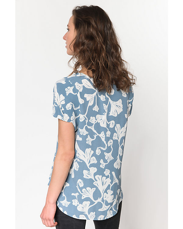 ICHI ICHI weiß Bluse Bluse blau blau weiß ICHI PIwqpP7