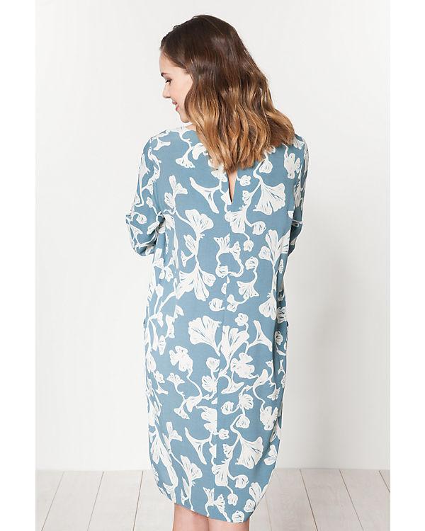 ICHI blau Kleid ICHI weiß Kleid 5qtnTz