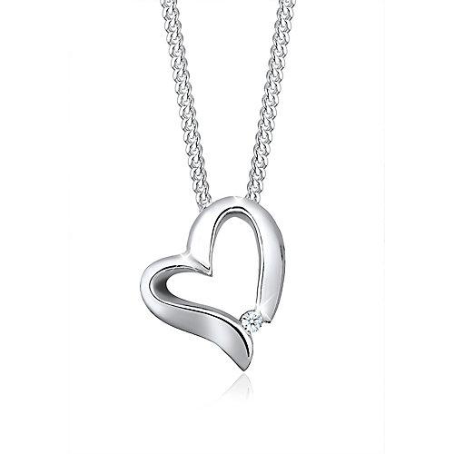 Elli PREMIUM Halskette Herz Romantisch Diamant ...