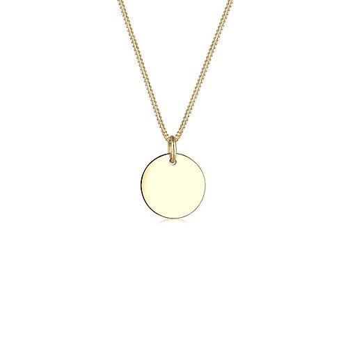 Elli PREMIUM Halskette Kreis 585 Gelbgold Damen