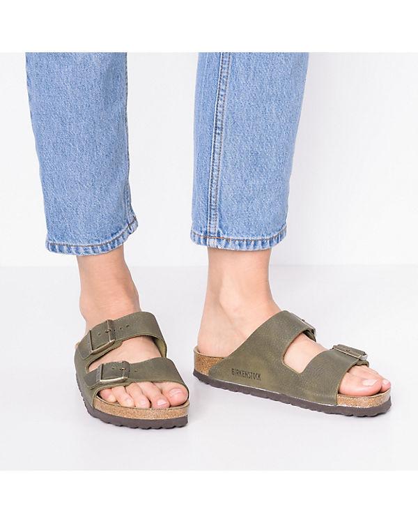 BIRKENSTOCK, grün Arizona Weichbettung schmal Komfort-Pantoletten, grün BIRKENSTOCK, 8ebdbd