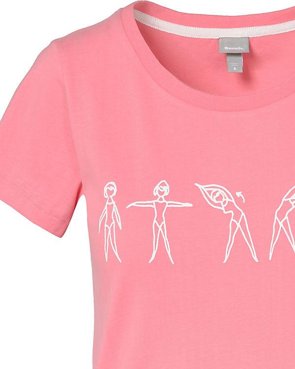 BENCH T-Shirt rosa
