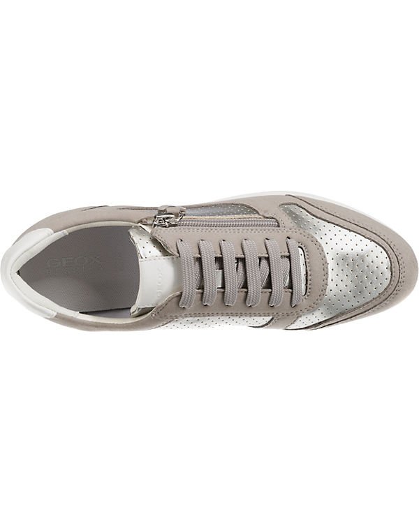 GEOX D AVERY Sneakers Low silber-kombi