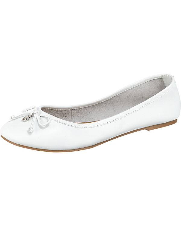 TOM TAILOR, Klassische Ballerinas, Ballerinas, Ballerinas, weiß 49de1f
