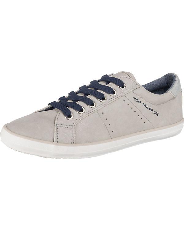 TOM TAILOR Sneakers Low grau-kombi