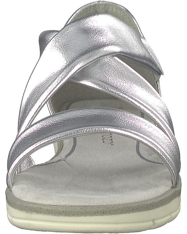 MARCO TOZZI, Klassische Sandalen, silber silber silber 748682