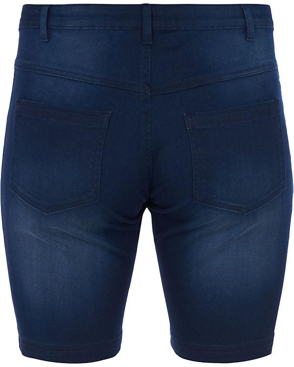 denim Zizzi Slim Jeansshorts Emily blue nEq1I0AWx1