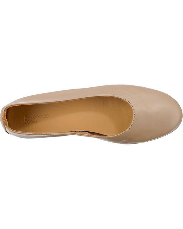 Darkwood Klassische Ballerinas beige Billige Sneakernews rkq2GCYrW