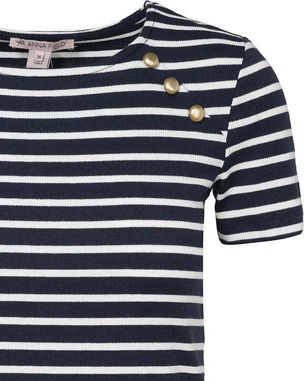 weiß Shirt T Field blau Anna xURInx