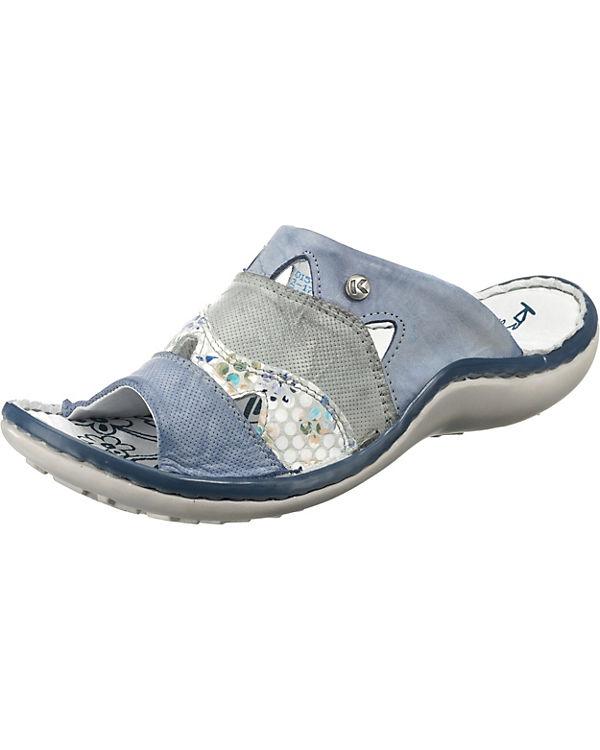 blau Krisbut Krisbut Pantoletten Komfort Komfort qC8Yzwxx