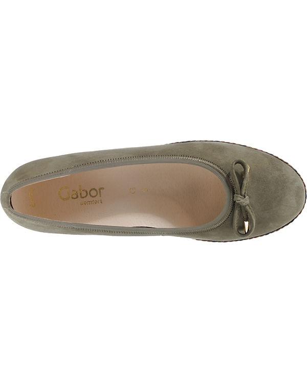 Gabor Ballerinas Klassische Klassische Ballerinas Ballerinas khaki khaki Gabor Gabor Klassische Yv1xqSTTw