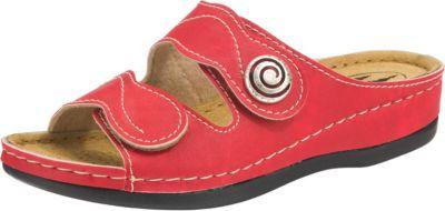 Franken Schuhe Pantolette rot zOmVRCv6a