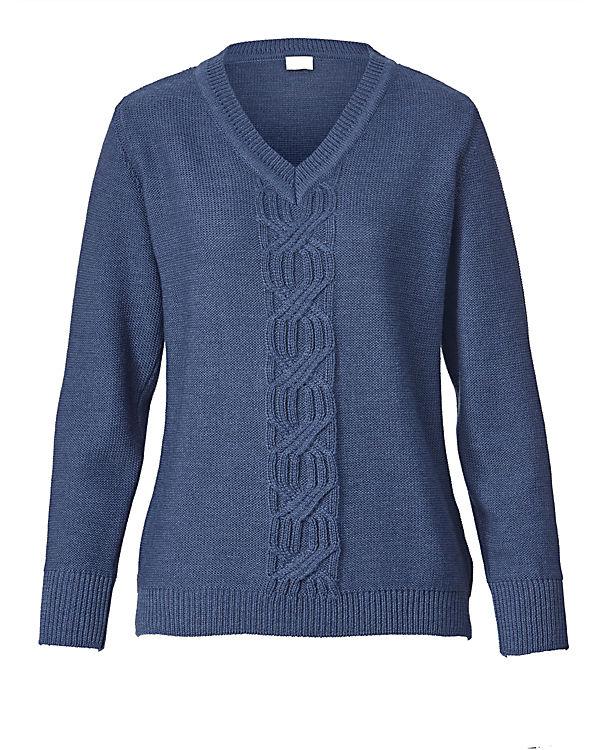 MONA MONA blau Pullover blau MONA Pullover R55SqPw