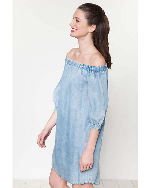 Shoulder light blue Kleid Off denim ONLY qnwPazp56x