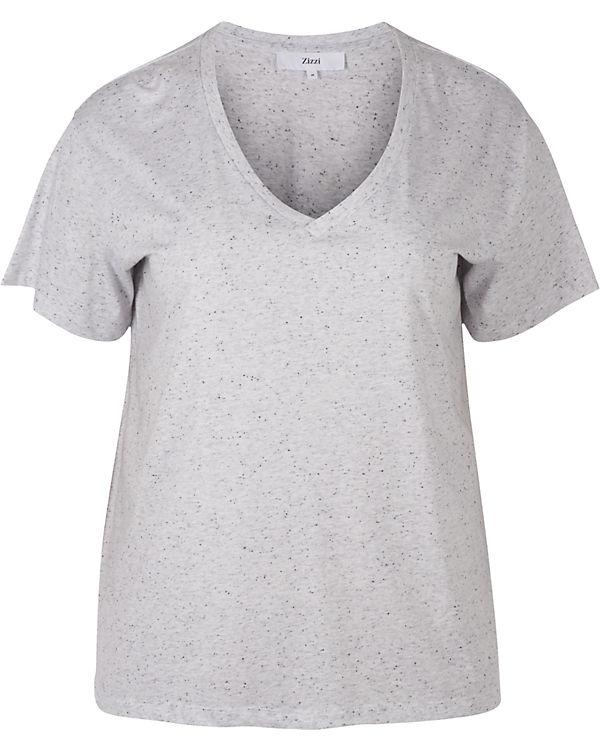 Zizzi schwarz T Zizzi schwarz T Shirt weiß Shirt frPqf
