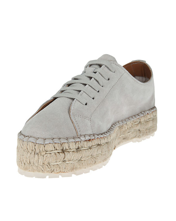 Shabbies Amsterdam LACE-UP SUEDE Espadrilles weiß