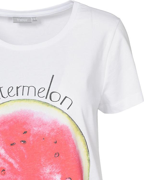 weiß Shirt pink Nifruit fransa T HCAnq4wnI