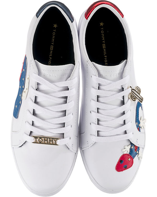 weiß TOMMY HILFIGER SNEAKER Low EMBELISH Sneakers ESSENTIAL nY0PxYwq