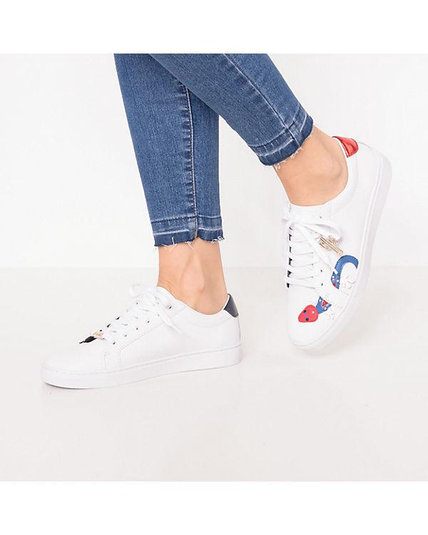 46d056c98c42 TOMMY HILFIGER, EMBELISH ESSENTIAL SNEAKER Sneakers Low, weiß   ambellis