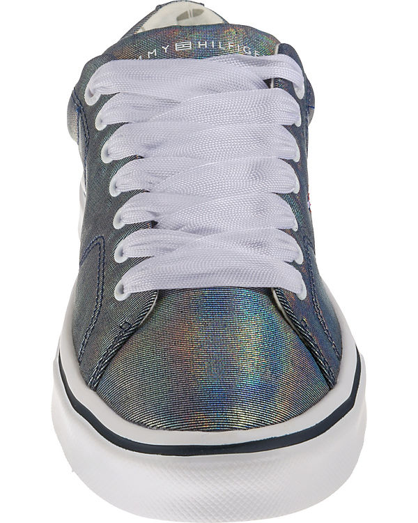 TOMMY LACE HILFIGER, METALLIC LIGHT WEIGHT LACE TOMMY UP Sneakers Low, blau 745299