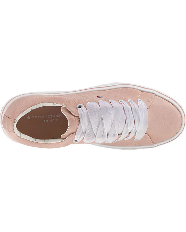 TOMMY LACE HILFIGER, METALLIC LIGHT WEIGHT LACE TOMMY UP Sneakers Low, rosa cfec50