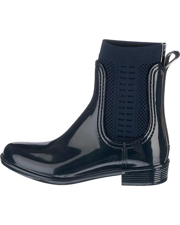 Ankle Boots blau HILFIGER BOOT RAIN TOMMY TOMMY KNIT wn1vXYzq