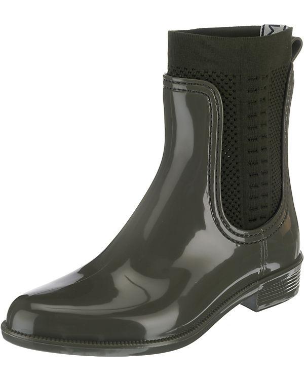 TOMMY Ankle KNIT HILFIGER khaki BOOT Boots RAIN TOMMY B6rfqB